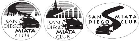 Club members selected the club's logo from three designs.